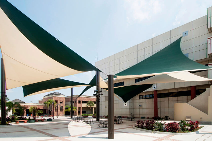 Shade Systems Provides Its Custom Sail Systems For Hillsborough