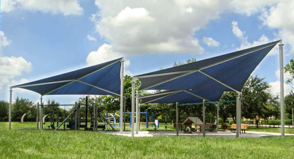 ShKite_3 & Shade Kites - fabric shade structures with removable canopies