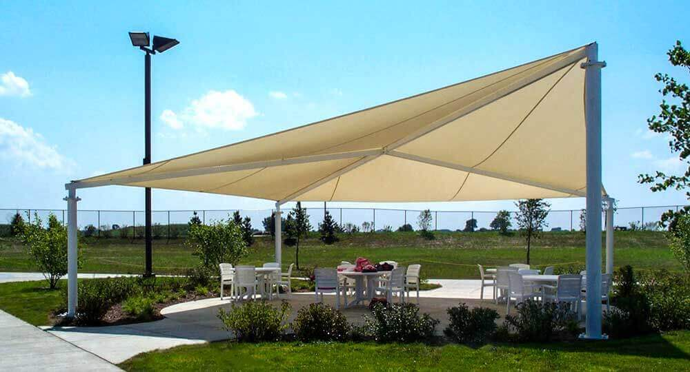 Shade Kites Fabric Shade Structures With Removable Canopies