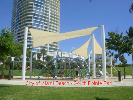 Shade Systems Completes Sail Installation For South Pointe Park In Miami Beach