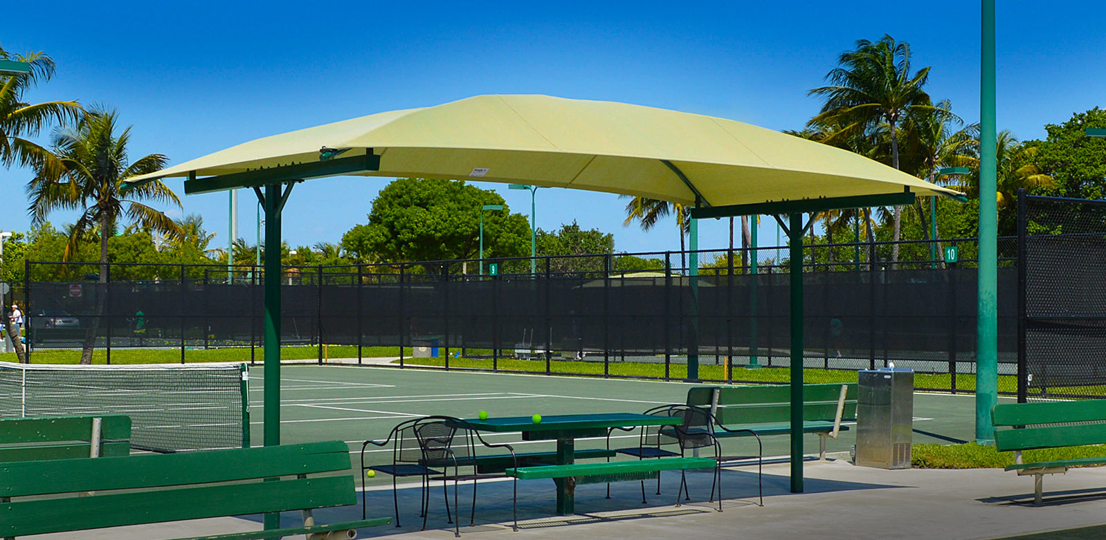 Fabric Canopy Structures At Baseball : Shade systems for sun protection at bleachers dugouts